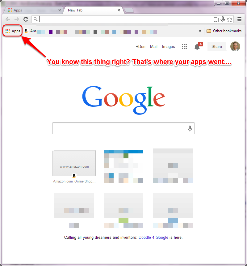 Google, Google, Google, what did you do to my Chrome? | …  footprints …